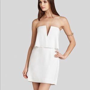 White BCBG strapless dress size 8